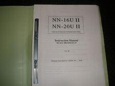 Namura Nn-16U & 20U Instruction Manual Meldas 520 Lr