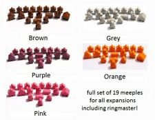 FULL 19PCS Carcassonne Meeples Set 2019 including RINGMASTER for all expansions