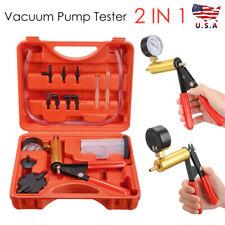 Hand Vacuum Pump Held Brake Bleeder Tester For Car Motorbike Bleeding Tools Kits