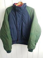 Vintage Nautica  Jacket Size L Blue Red Green w/ detached hood