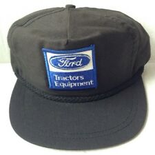 1970s 1980s FORD TRACTORS EQUIPMENT TRUCKER BASEBALL CAP HAT, BLACK, NEW VINTAGE