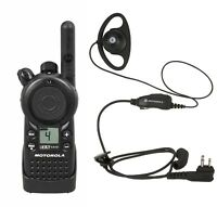 Motorola CLS1410 UHF Business Two-way Radio with HKLN4599 Headset.