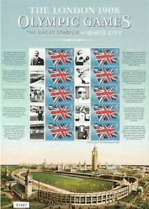 2008 GB Smiler Sheet - 1908 London Olympic Games - Unmounted Mint With Insert.