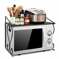 Microwave Oven Rack Storage Stand Holder Kitchen Counter Organizer Metal Shelf