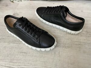 Stuart Weitzman Russell and Bromley Black leather trainers,USA Size 9.5
