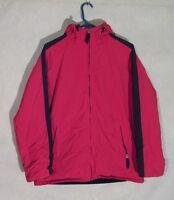Z8137 Men's Abercrombie Red/Black Full Zip Hooded Coat-Medium