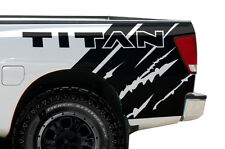Vinyl Graphics Decal Wrap Kit for Nissan Titan 2004-13 Rear Quarter MATTE BLACK
