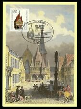 Postal History Germany Fdc #1412 Maximum Card Michelstadt Town Hall 1984