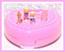 ❤️Polly Pocket VTG 1994 Perfect Playroom Compact Bluebird Nursery Baby 3 Dolls❤️