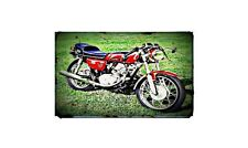 1972 honda cb125 cafe racer Bike Motorcycle A4 Retro Metal Sign Aluminium