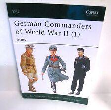BOOK OSPREY Elite Series # 118 German Commanders of WW II (1)  2010 Ed