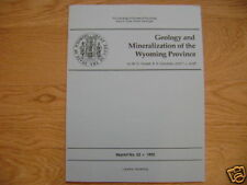 Geology Mineralization of Wyoming Province Mining Book