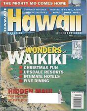 Hawaii Magazine December 1998 Waikiki Hidden Maui Mighty Mo