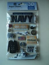 PAPER HOUSE UNITED STATES NAVY 3D STICKERS BNIP *NEW*