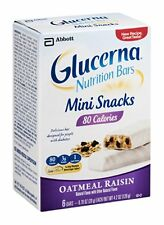 Glucerna Mini Snacks, Oatmeal Raisin, 6ct 070074630267A372