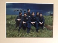 SIGNED PHOTO LANCASTER AJ-T DAMBUSTER CREW SQN LDR GEORGE JOHNNY JOHNSON SIGNED