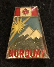 NORQUAY Vintage Skiing Ski Pin Alberta CANADA Banff Lake Louise Travel