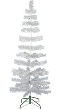 """60"""" Retro Silver Tinsel Christmas Tree Vintage Feather Style XMASS Holiday 5FT"""