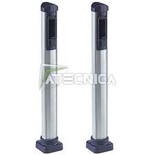 Coppia di colonnine FAAC 401039 in alluminio H50 fotocellule Safebeam XP15 XP20