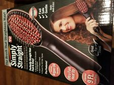 Simply Straight Professional Hair Straightening Brush As Seen On TV Black New