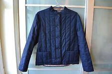 Aquascutum blue tartan quilted casual jacket ~ UK 12