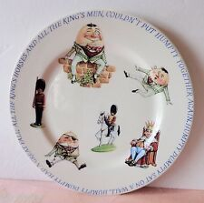 """Queen's India HUMPTY DUMPTY Child's China Plate Youth 7.75"""" Nursery Rhyme NICE"""
