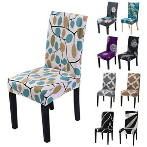 Stretch Printed Chair Covers Slipcover Dining Seat Cover Party Decor Removable