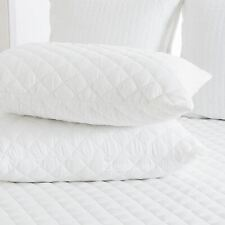 2 x Quilted pillow protector - Cotton Fill - Zip closure