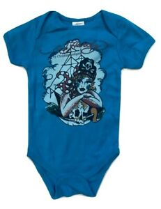 Ed Hardy Baby Overalls Short Sleeve Size 9 /12 M