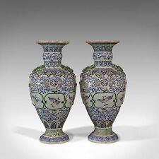 Pair of Large Vintage Baluster Vases, Decorative Ceramic Urns, 20th Century