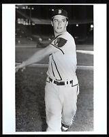 Eddie Mathews 1952 Rookie Boston Braves 8x10 Batting Photo from vintage negative