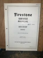 Air Chief Radio Model 4-A-23 -Service Manual- Schematics, Parts List. Firestone