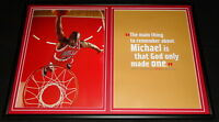 Michael Jordan Bulls Framed 12x18 Photo & Quote Display