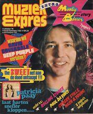 MAGAZINE MUZIEK EXPRES OKTOBER 1974  - DEEP PURPLE/ROLLING STONES/MOODY BLUES