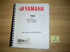 Genuine Yamaha ATV YFM225 YFM 225 manual service shop owners repair nos moto 4