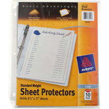 2 Pack Avery Sheet Protectors Standard Weight 85in X 11in Clear 75540 10 Ct