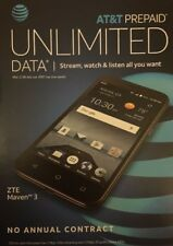 "5"" ZTE Maven 3 ,4G ATT Prepaid Smartphone  8gb Sealed Box (Unlocked)"