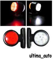 2x 12 LED SMD Mini Lato Gomma Luce Luci di Ingombro Rimorchio Camion Caravan 12v