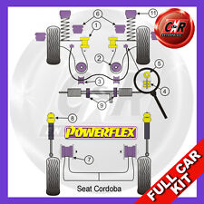Seat Cordoba 1 6K 99-02 Powerflex Complete Bush Kit without Power Steering