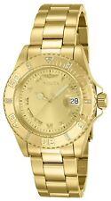 Invicta Mujer Oro Gold Crystal Pulsera Bracelet Woman Watch Diamonds Hand Band