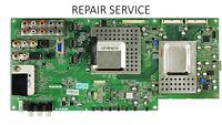 Toshiba 75014846 main board 461C1851L12, 431C1851L12, REPAIR SERVICE 46XV640U