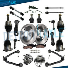 20pc Front CV AXLE Wheel Bearing Hub Kit for 4WD GMC Sierra Chevy Silverado 1500
