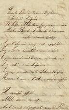 Attilio Regolo al Senato Romano del Poeta Metastasio Manoscritto 1850 c.a