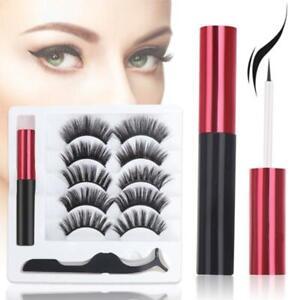 5 Pairs Equipment Magnetic Eyeliner and Lashes Kit Magnet Eyelashes for Wo Prof