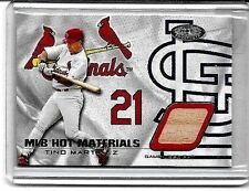 TINO MARTINEZ 2002 FLEER HOT PROSPECTS HOT MATERIALS  GAME USED BAT ~ CARDINALS