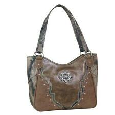 Way West Western Womens Purse Joan Satchel Camo Bronze 1605248