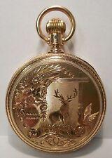 E. Howard & Co.-18 Size-14K Yellow Gold-Series VII-Dueber Elk Case-Pocket Watch