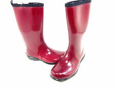 KAMIK, HEIDI RAIN BOOTS, WOMENS, RED, MISMATCHED, LEFT SIZE 7 M, RIGHT SIZE 6