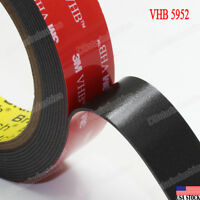 "3M 1"" VHB Double Sided Foam Adhesive Tape 5952 Grey Strong Industrial Grade 9 ft"