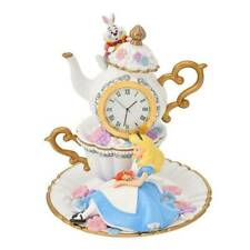 Disney Store Alice in Wonderland Alice Dynah White Rabbit Clock Story Collection